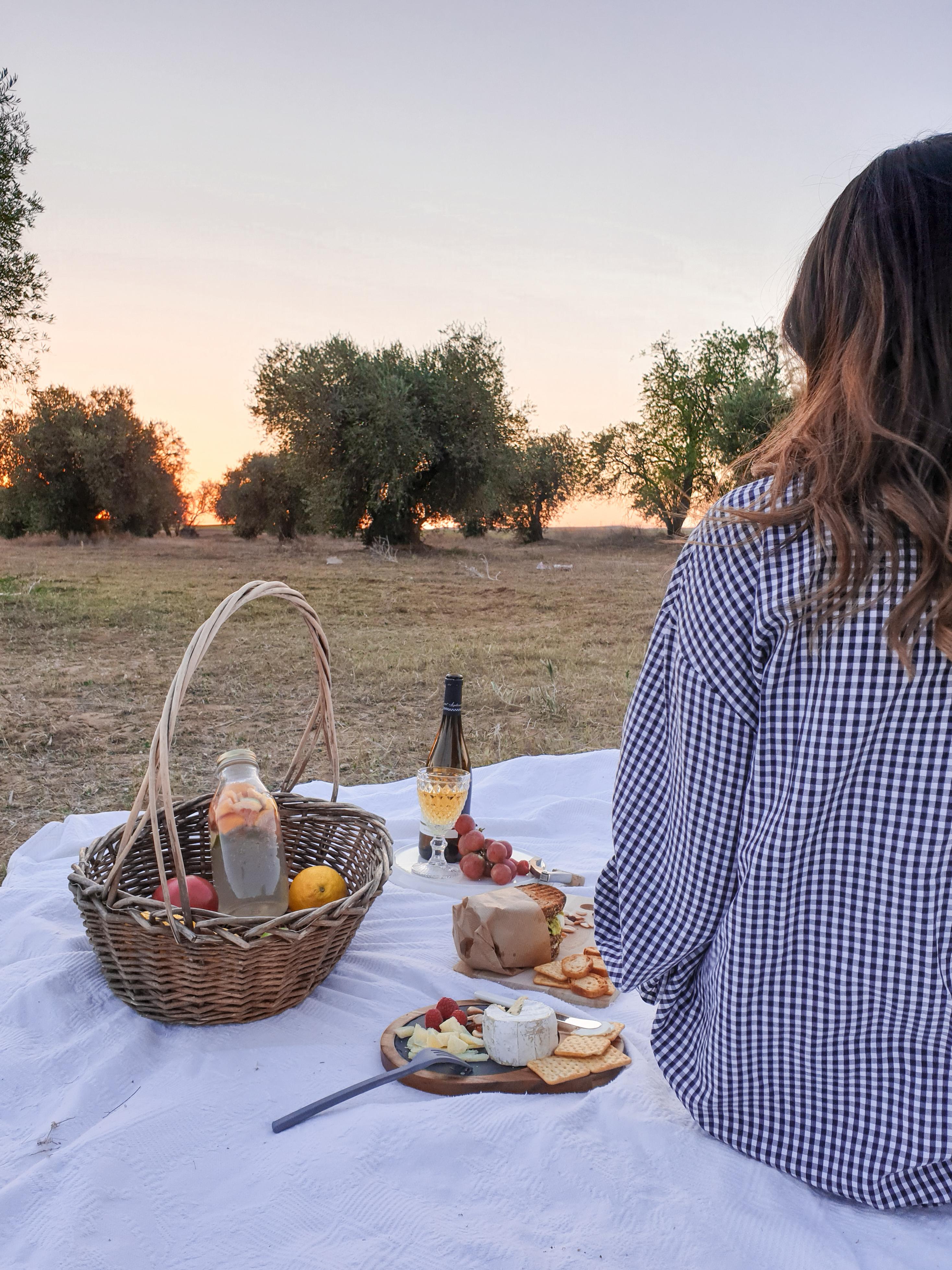 Día de picnic en el campo