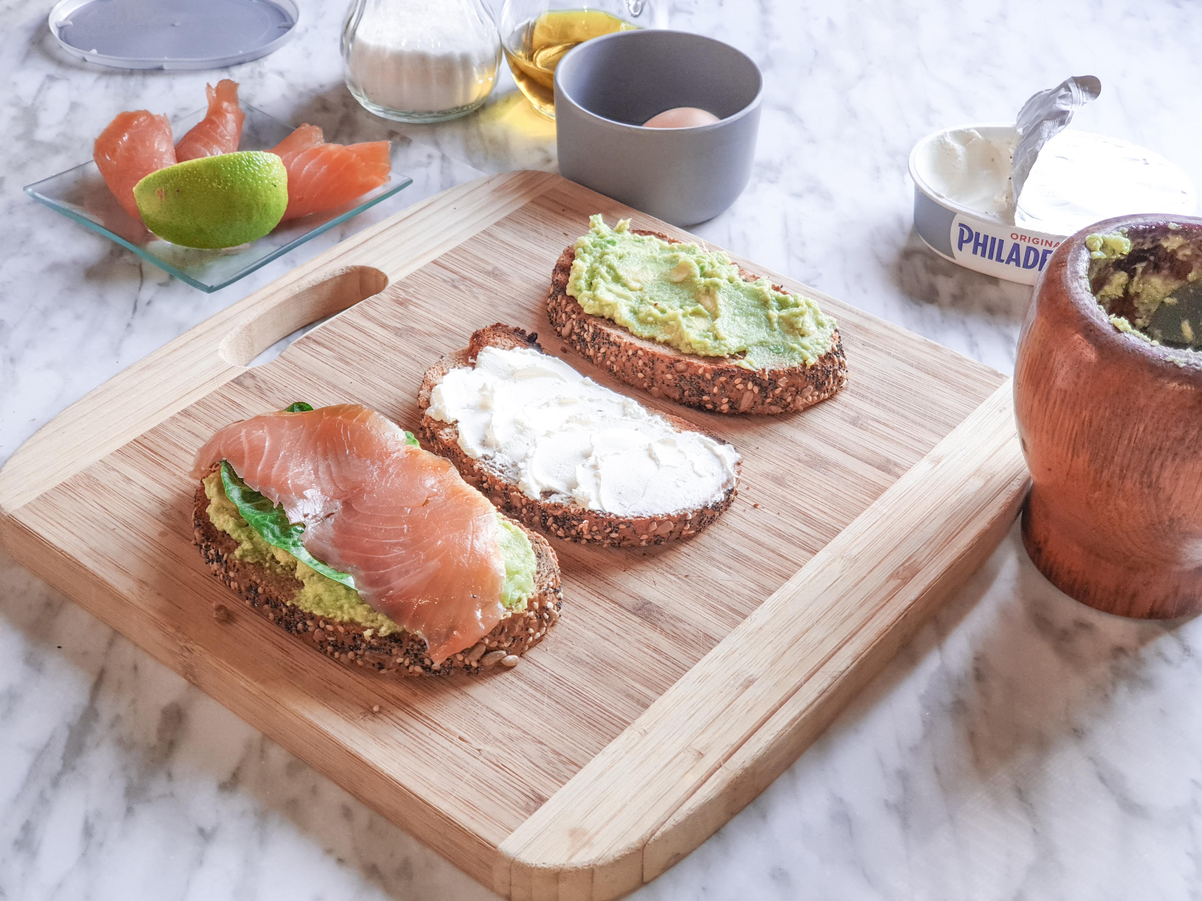 Omega 3: aguacate y salmón ahumado
