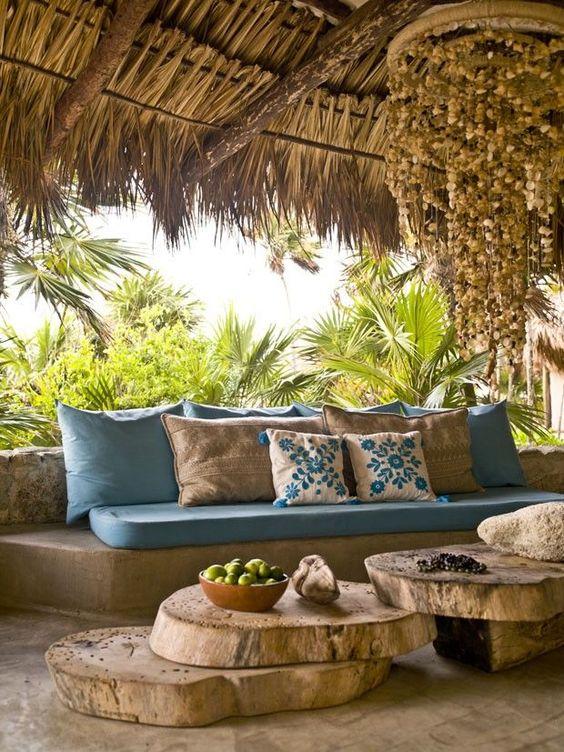 Ideas decoración terrazas estilo balinés - Decoración terraza estilo exótico
