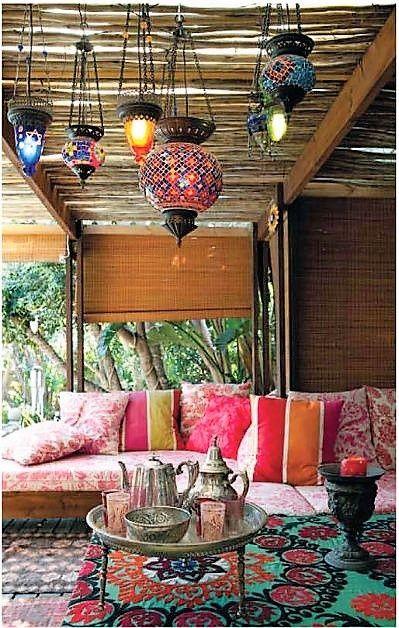 Ideas decoración terrazas estilo árabe- Decoración terraza estilo exótico