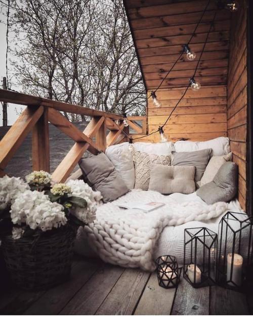 Decoración terraza estilo escandinavo - Ideas decoración terrazas chill out