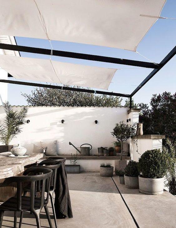 Decoración terraza estilo nórdico- Ideas decoración terrazas chill out
