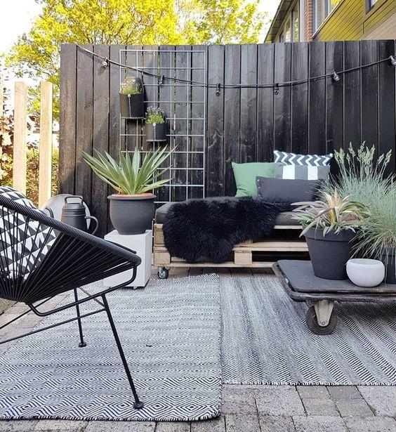 Ideas decoración terrazas chill out - Decoración terraza estilo escandinavo