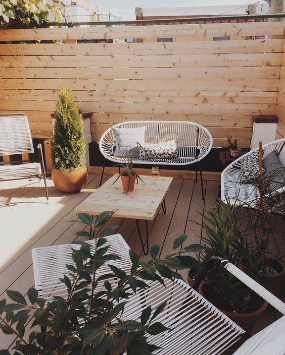 Ideas decoración terrazas chill out - Decoración terraza estilo nórdico