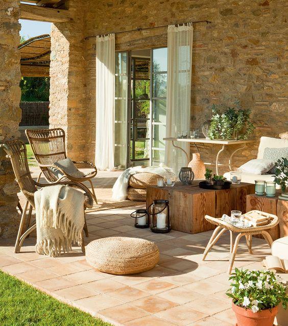 Decoración terraza estilo mediterráneo - Ideas decoración terrazas rústicas