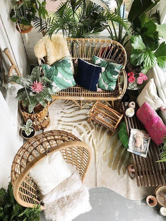 Decoración terraza estilo tropical - Ideas decoración terrazas tropicales