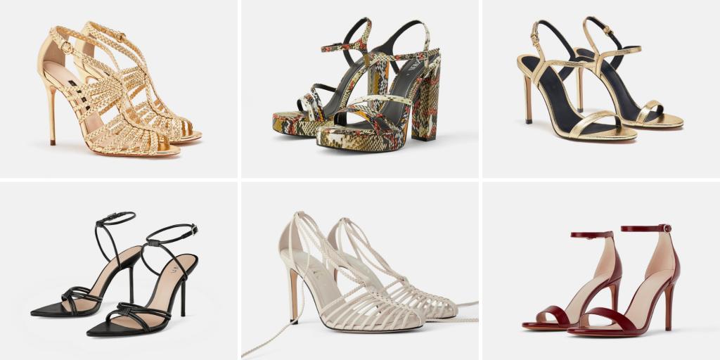 Zapatos / sandalias tacón invitada perfecta Zara